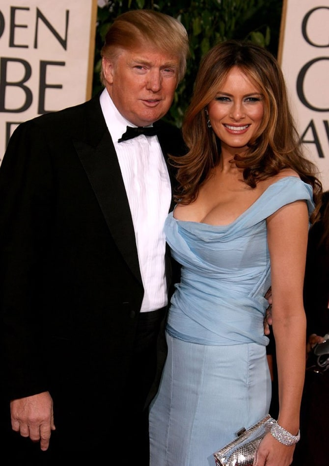 trump with wife