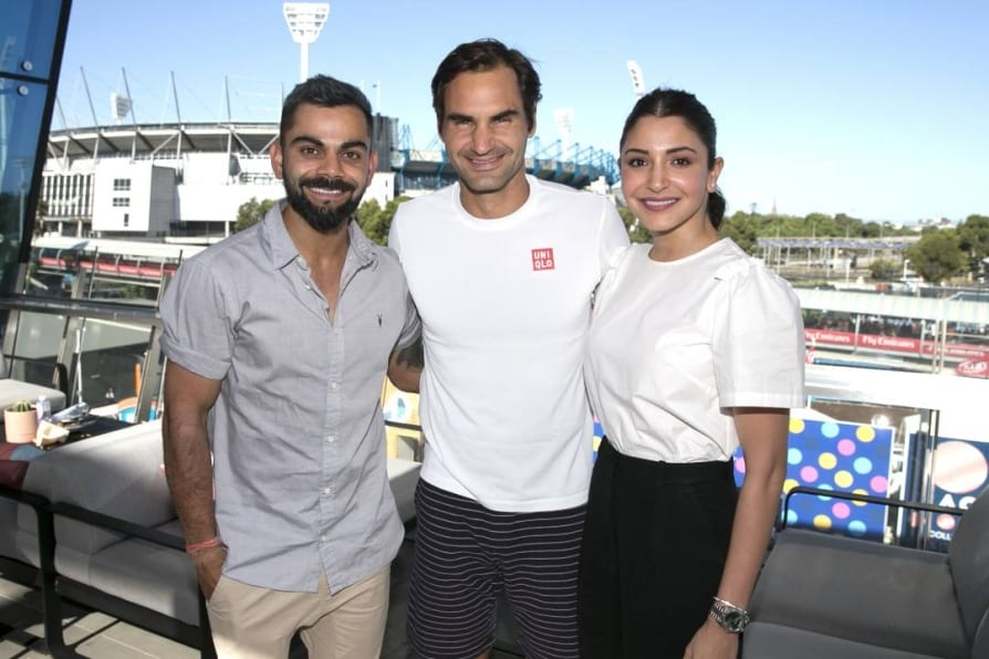 Australian Open trolled over Federer, Kohli, Anushka photo caption