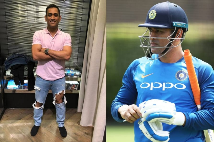 twitterati trolls ms dhoni picture in ripped jeans