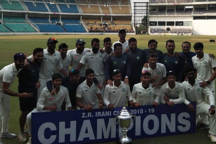 vidarbha retain irani cup after draw with rest of india