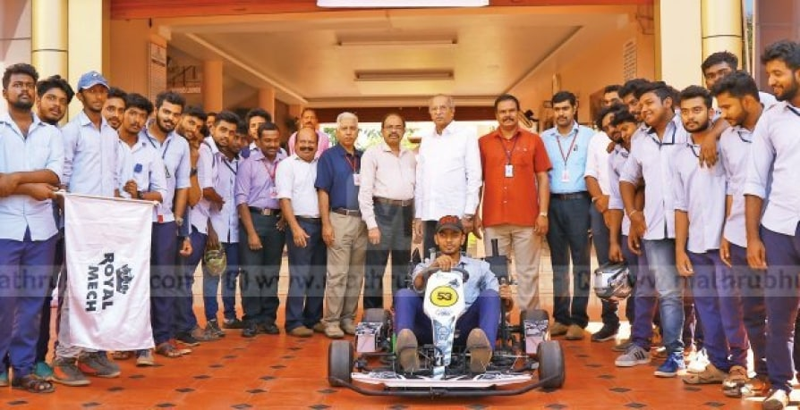 Students of Sree Buddha College going to Noida for Gokart Racing
