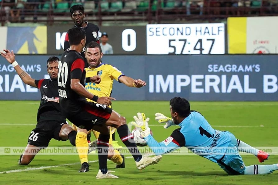 indian super league kerala blasters draws match against northeast united