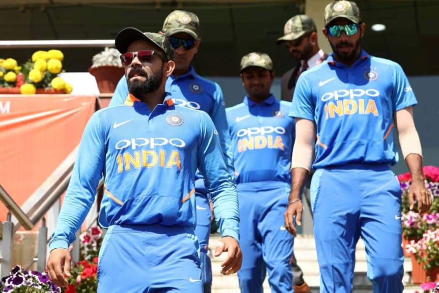 indian players use camouflage caps after permission from icc