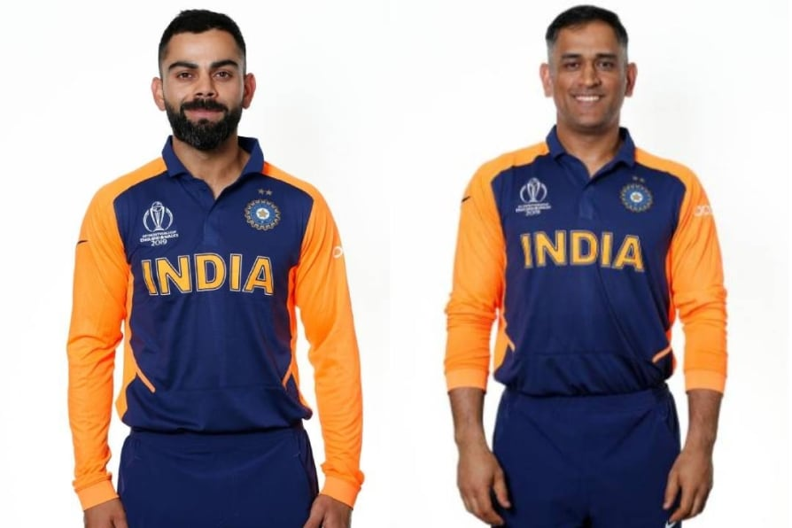 icc world cup why did bcci select orange colour for india's away jersey