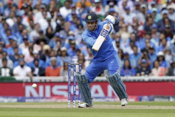 MS Dhoni using different bat logos as goodwill gesture