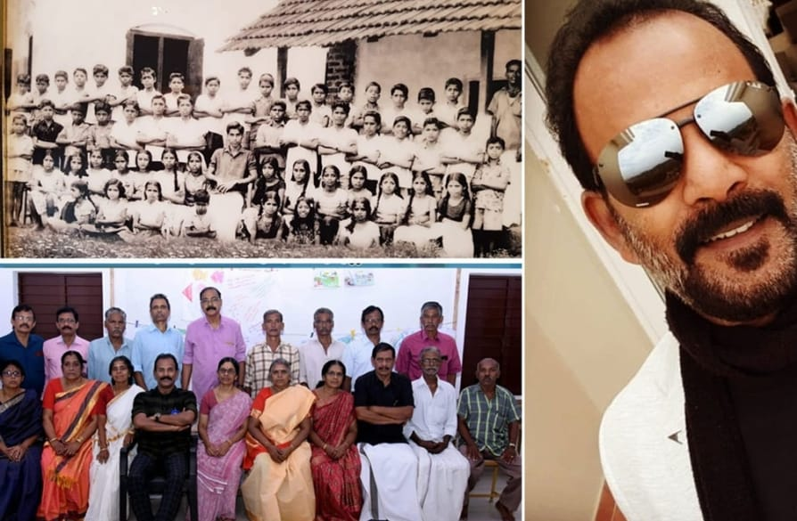 Major Ravi shares 50 year old school photo after get together kunjiramante kuppayam Facebook