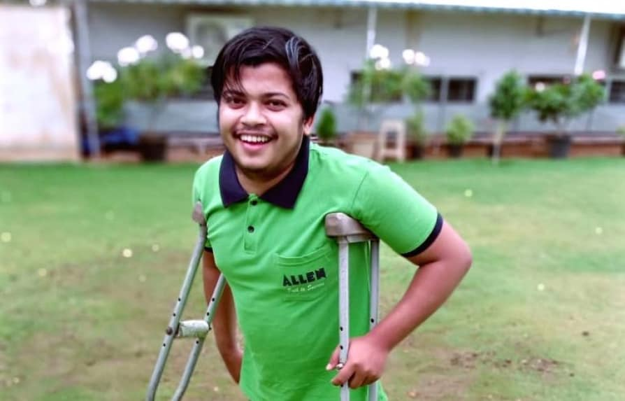 Sajan Rai | Physically challenged boy clears NEET after travelling miles on crutches