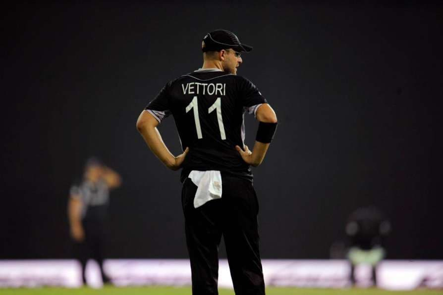 former New Zealand all-rounder Daniel Vettori's jersey number 11 has been retired