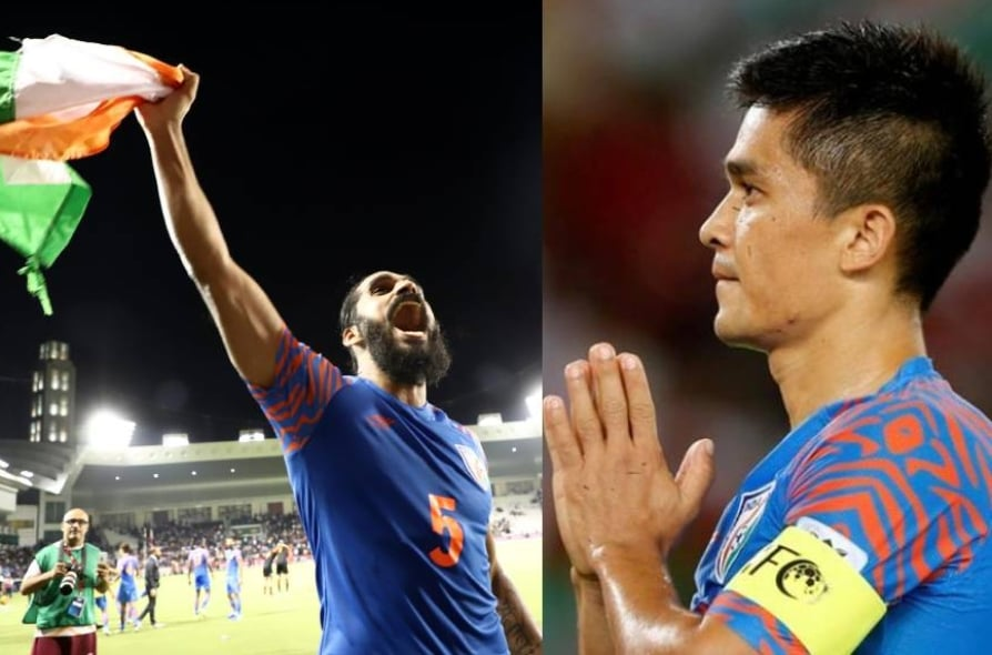 Sandesh Jhingan and Sunil Chhetri