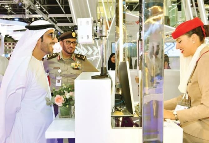 dubai biometric checking counter gitex