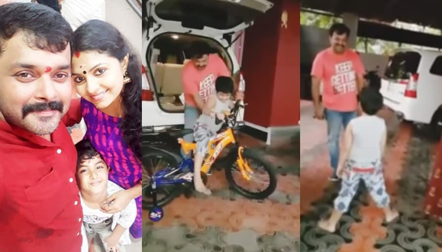 Ambili Devi shares aabout surprise gift given aadithyan jayan their son family movies