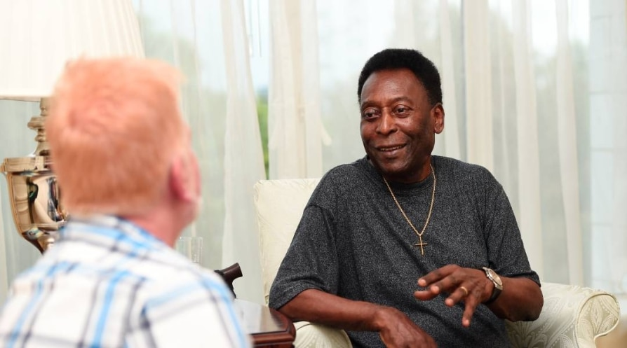 Pele dismisses his son's claim that he is depressed and reclusive