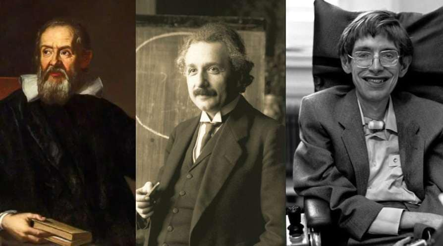 Galileo Galilei, Albert Einstein and Stephen Hawking