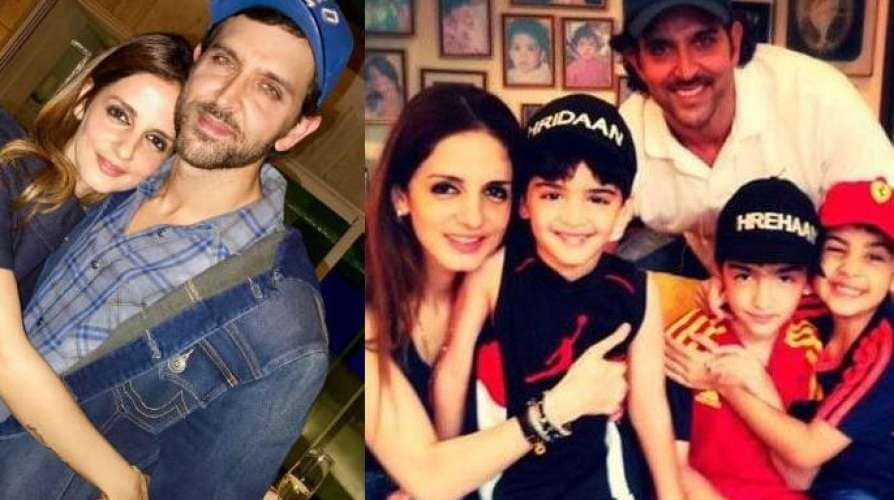 Sussanne Khan with Hrithik Roshan to take care of kids during quarantine corona covid 19