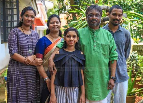 Mohan Sithara With Family