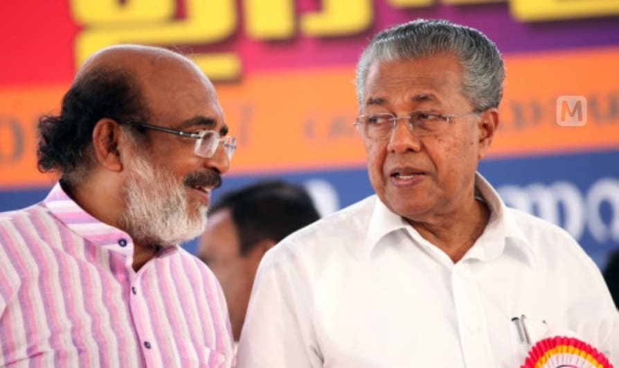 thomas isaac and pinarayi vijayan