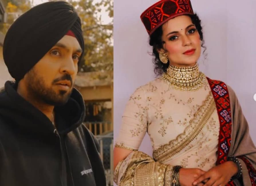 Diljit Dosanjh vs Kangana Ranaut Made Indians Need Translations for Punjabi trending in twitter