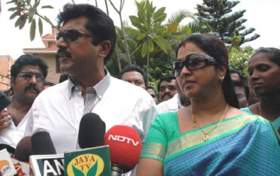 Actor Sarathkumar wife Radhika sentenced to one year imprisonment in cheque bounce case